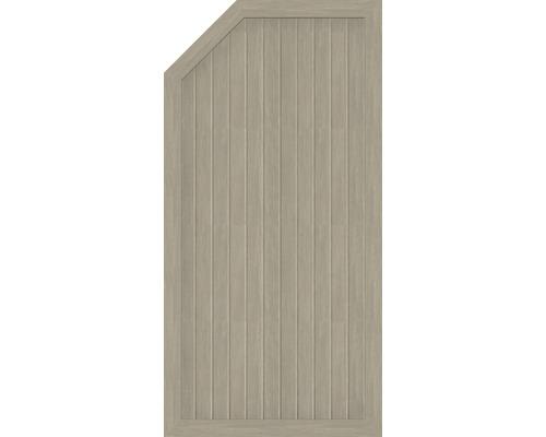 Element extremitate BasicLine tip E, stanga, 90 x 180/150 cm, Sheffield Oak
