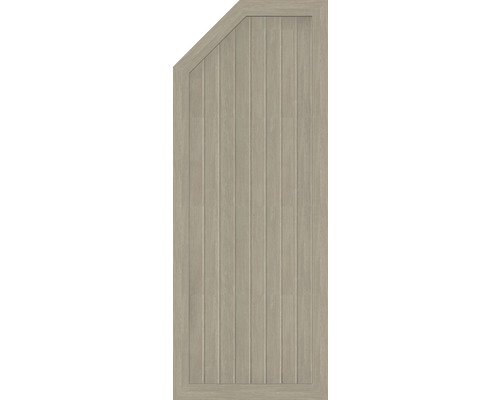 Element extremitate BasicLine tip E, stanga, 70 x 180/150 cm, Sheffield Oak