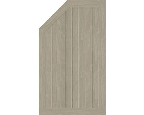 Element extremitate BasicLine tip M, stanga, 70 x 120/90 cm, Sheffield Oak