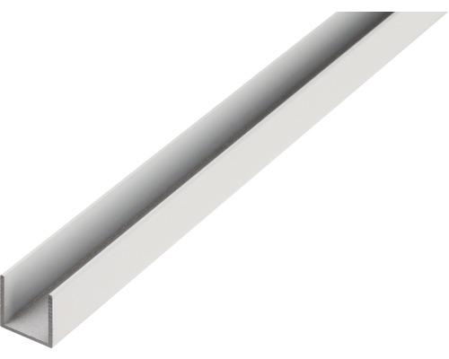 Profil in U 20x20x2 mm aluminiu 2m brut