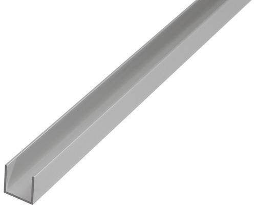 Profil in U 10x19 mm 1m aluminiu eloxat