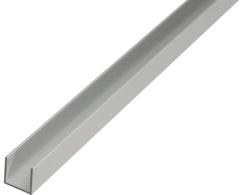 Profil in U 10x16 mm 2m aluminiu eloxat