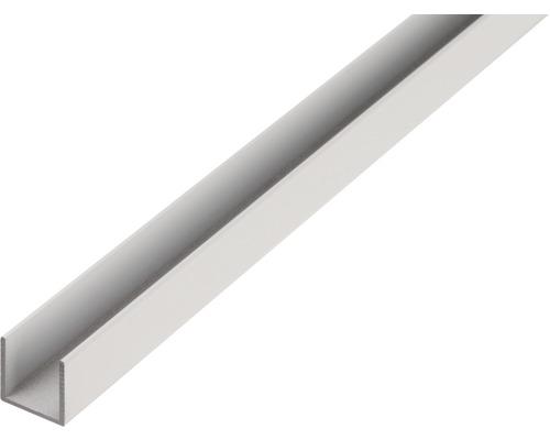 Profil in U 20x30x2 mm aluminiu brut 2m