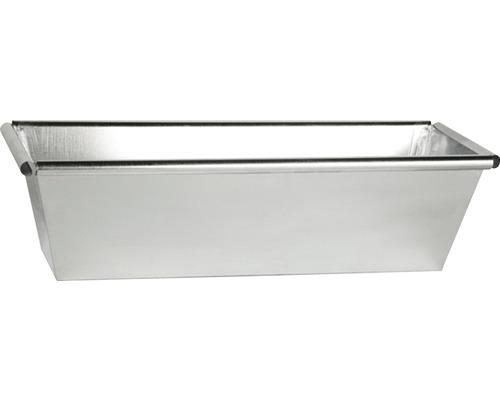 Jardiniera, zinc, 50x17,5x13 cm, argintie
