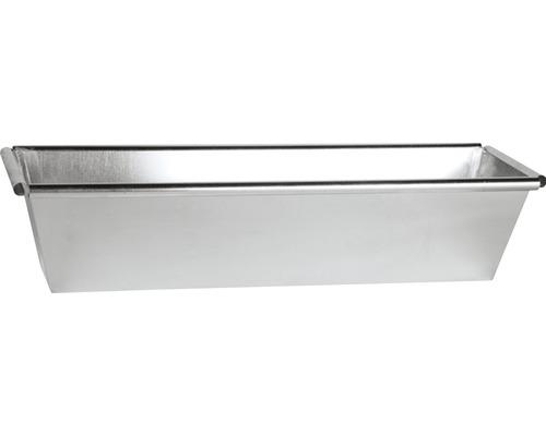 Jardiniera, zinc, 60x17,5x13 cm, argintie