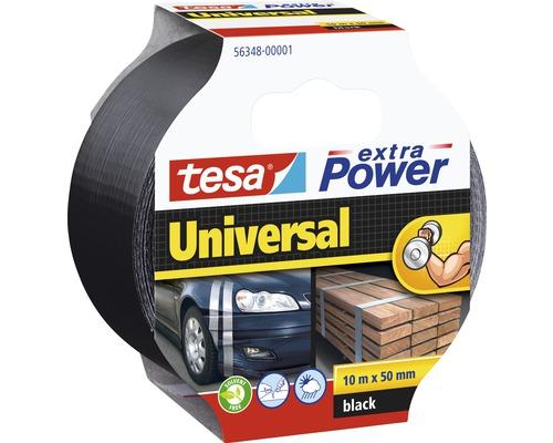 Bandă pentru reparații tesa extra Power Universal neagră 10 m x 50 mm
