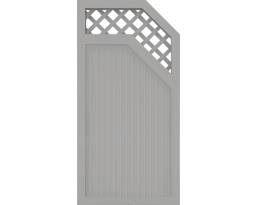 Element extremitate BasicLine tip E, dreapta, 90 x 180 cm, gri argintiu