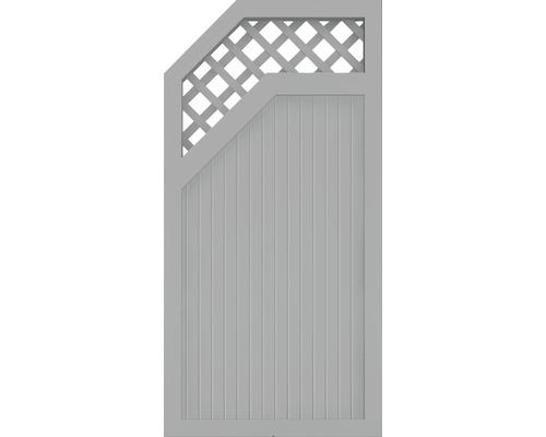 Element extremitate BasicLine tip E, stanga, 90 x 180 cm, gri argintiu