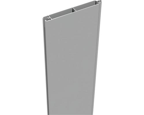 Profil simplu Lumino 180 x 15 cm, gri argintiu