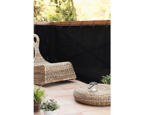 Protectie vizuala balcon, ratan, 300 x 90 cm, negru