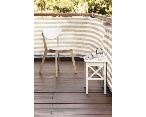 Protectie vizuala balcon, 2500 x 150 cm, gri-alb