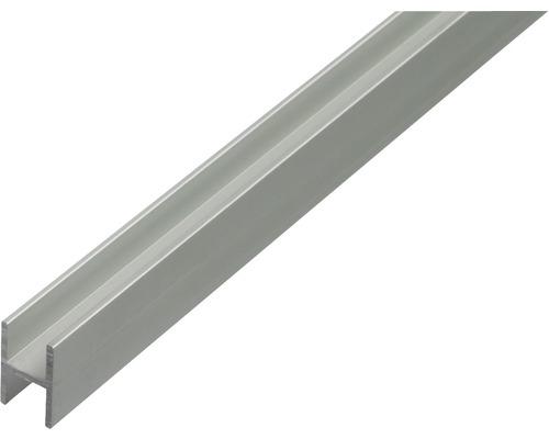 Profil H aluminiu 13,5x22x1,5x10mm 2m