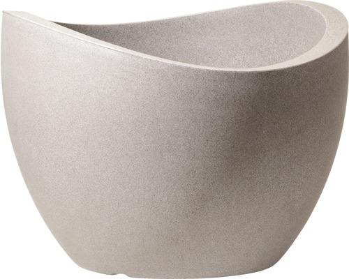 Ghivece Wave Globe, Ø 50 cm, gri granit