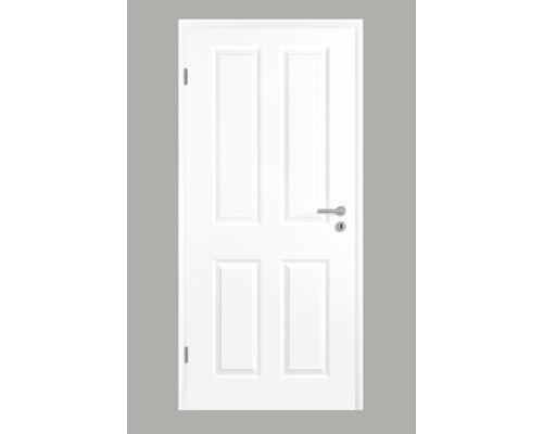 Foaie de ușă Pertura Pila clasic fibrolemnoasă albă 198,5x73,5 cm stânga