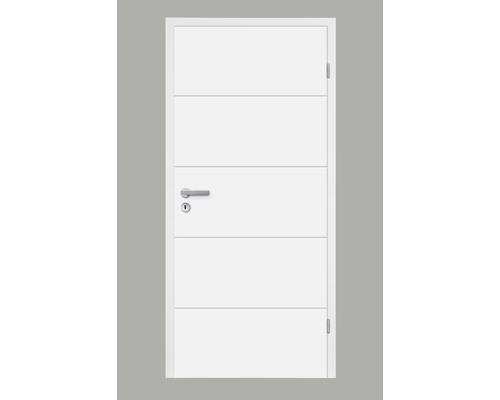 Foaie de ușă Pertura Perla fibrolemnoasă albă 198,5x86 cm dreapta