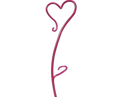 Tijă pentru orhidee Soendgen în formă de inimă, 55 cm, roșu mură