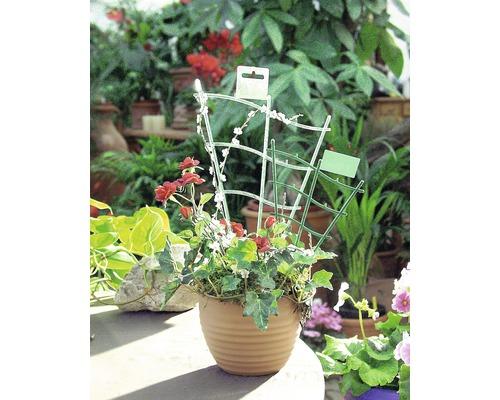 Grilaj pentru flori FloraSelf®, curbat, 30 cm, verde
