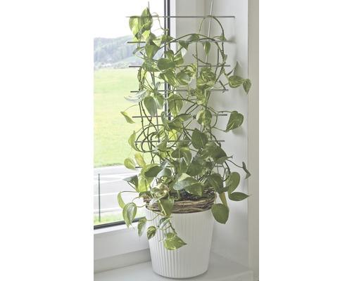 Suport pentru plante FloraSelf® 24 x H 44 cm, argintiu