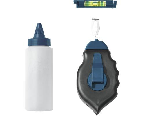 Set dispozitiv de trasat cu sfoara si pulbere de creta