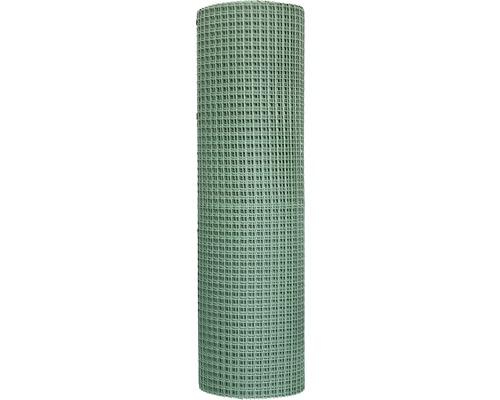 Plasa tesatura plastic pentru garduri, ochiuri patrate 2 cm, marfa la metru 100 cm, verde