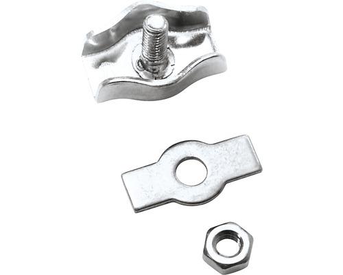 Cleme simple cabluri metalice Pösamo 6mm, oțel zincat, 2 bucăți