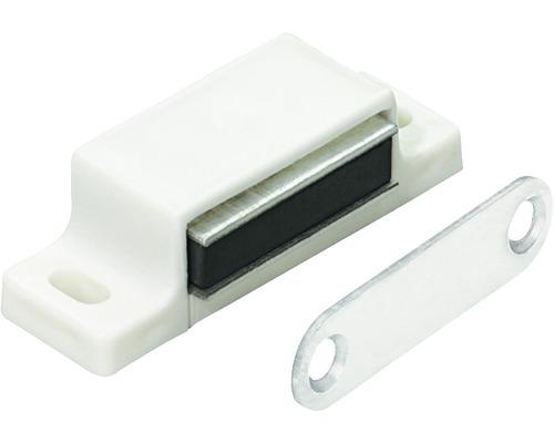 Opritor de usa cu magnet Hettich 14x45x15 mm max. 5kg, alb, pachet 50 bucati