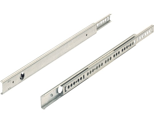 Glisiere tip sina cu bile Hettich KA270 345-550 mm, max. 12kg, otel zincat, 1 pereche