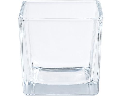Vaza de flori, sticla, 8x8x8, transparenta