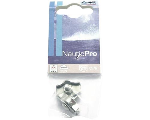 Cleme simple cabluri metalice Nautic Pro 4mm, inox A4, 2 bucati
