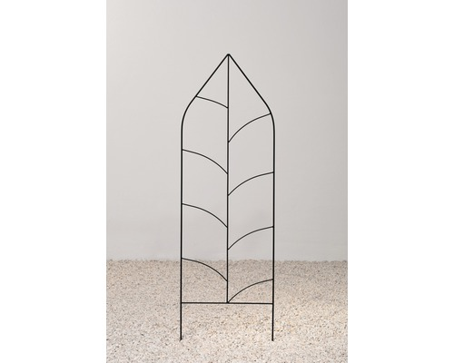 Spalier decorativ metal, Alexa, 29x180 cm, negru