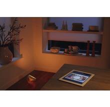 Veioză cu LED integrat Philips Hue Iris 10W 210 lumeni, lumină RGBW, albă/transparentă