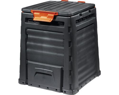 Compostor din plastic, 320 l, negru