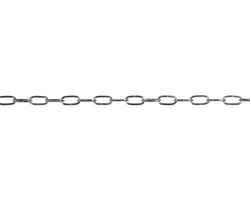Lanț ceas Pösamo Ø1,0 mm, oțel nuanță plumb