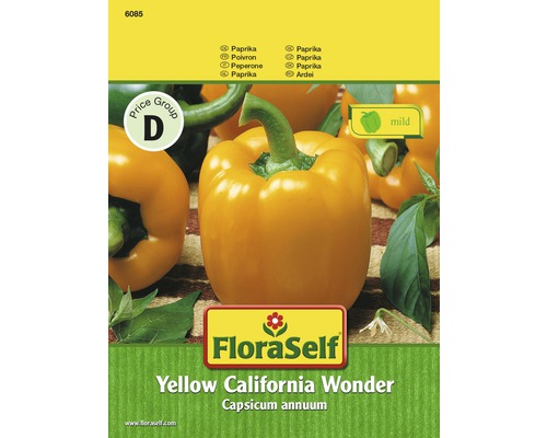 "FloraSelf semințe de ardei ""Yellow California Wonder"""
