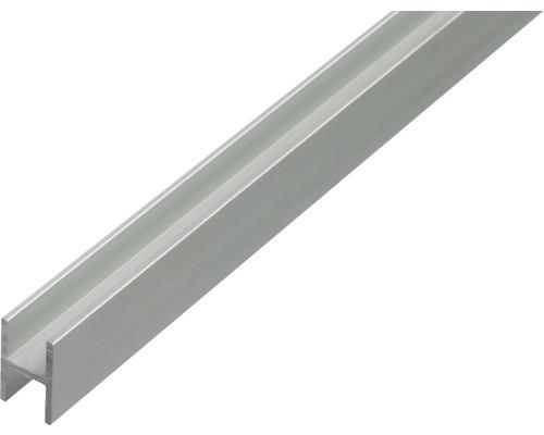 Profil H aluminiu 22x30x1,5x19mm 2m