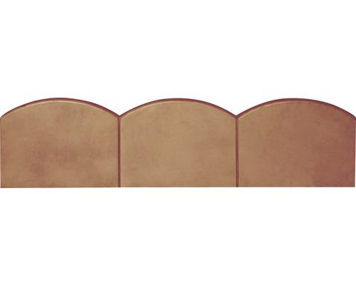 Bordura Semmelrock ondulata rosie 100x25x5 cm