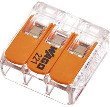Cleme legături rapide cabluri Wago 3x max. 4 mm², 50 bucăți