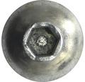 Suruburi metrice cu cap semibombat si hexagon interior Dresselhaus 3x6 mm DIN7380-1 otel zincat, 500 bucati