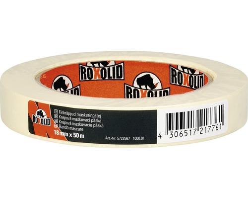 Banda de mascare ROXOLID bej 18 mm x 50 m
