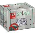 Dibluri plastic autoforante cu surub Tox Spiral, 50 bucati, pentru gipscarton