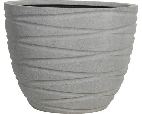 Ghiveci, piatra artificiala, Ø 34 cm, gri