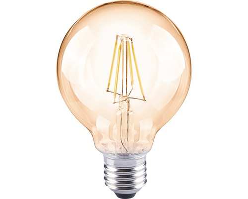 Bec vintage LED Flair E27 4W, glob G80, durata viata 15.000 h