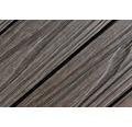Dala WPC 3D, sistem click, structura lemn, maro