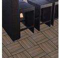 Dală WPC 3D, sistem click, structură lemn, maro