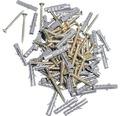 Dibluri plastic cu surub 6x40 mm, 50 bucati
