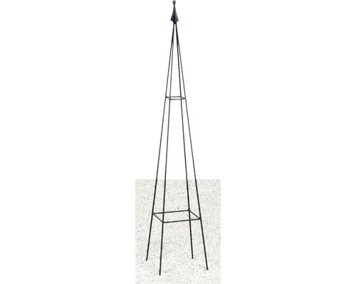 Obelisc pentru plante cățărătoare Levin, metal, 17x17x90 cm, negru