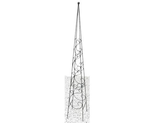 Obelisc pentru plante Fidelis, 17x17x120 cm, negru