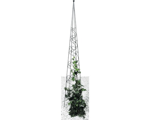 Obelisc Fidelia Lafiora 22x22x150 cm negru