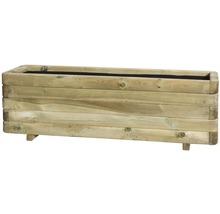Jardinieră Toscana, lemn, 120x40x35 cm, maro