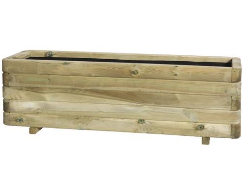 Jardiniera Toscana, lemn, 120x40x35 cm, maro